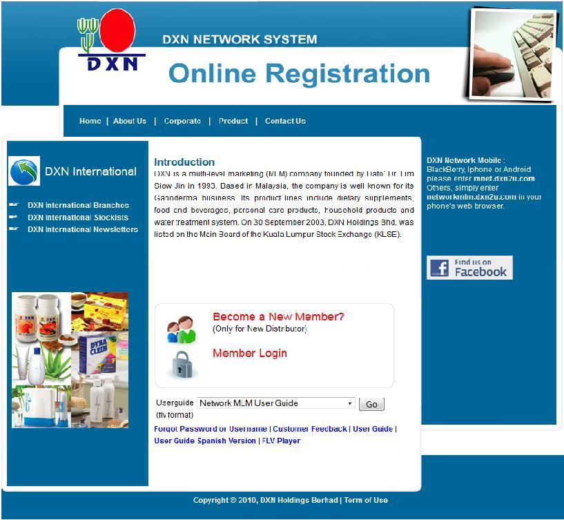 DXN Global Canada Registration