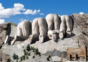 Back side of Mt. Rushmore
