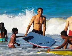 Shirtless Obama