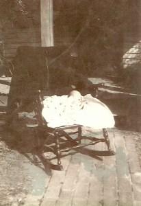 Judy in Grandma's Rocking Chair