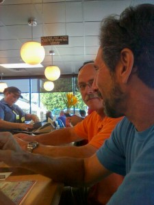 Robert and BJ @ the Waffle House