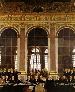 Signing of the Peace in the Hall of Mirrors