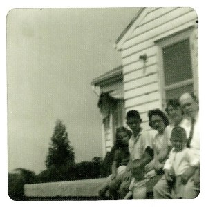 The Brads Family at home in Ohio on Farmersville Pike, Spring 1958
