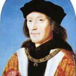 Henry VII  holding the Tudor Rose