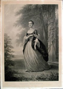 Martha Washington as a young woman