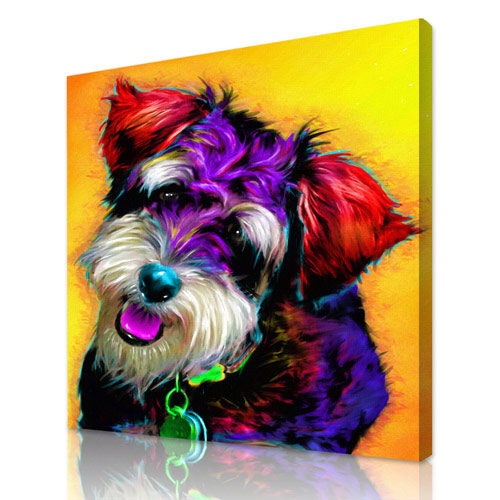 Customized Pop Art Dog Portrait