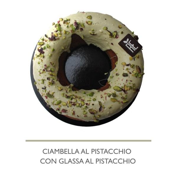 CIAMBELLA AL PISTACCHIO CON GLASSA DI PISTACCHIO 1KG