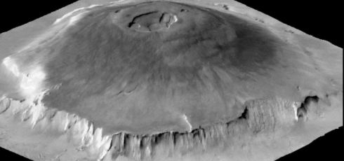 This incredible Martian volcano once erupted for 2 billion years