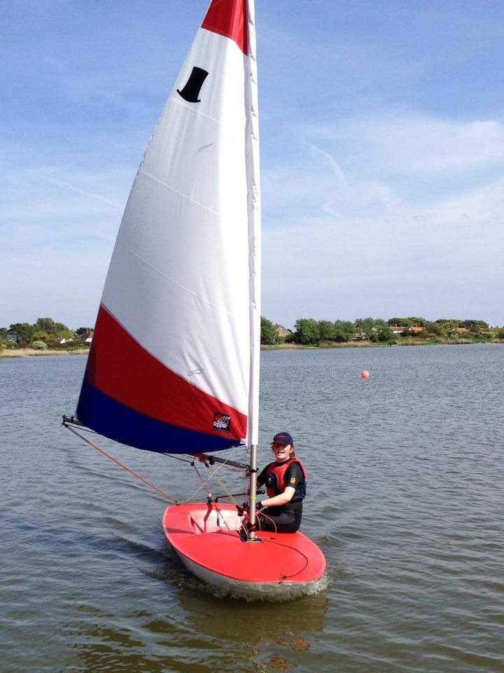 Shepway District Council Funds New Topper Training Dinghy Redoubt Sailing Club