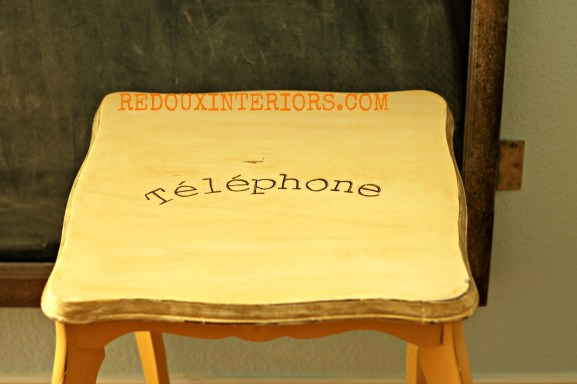 Top of telephone table Redouxinteriors