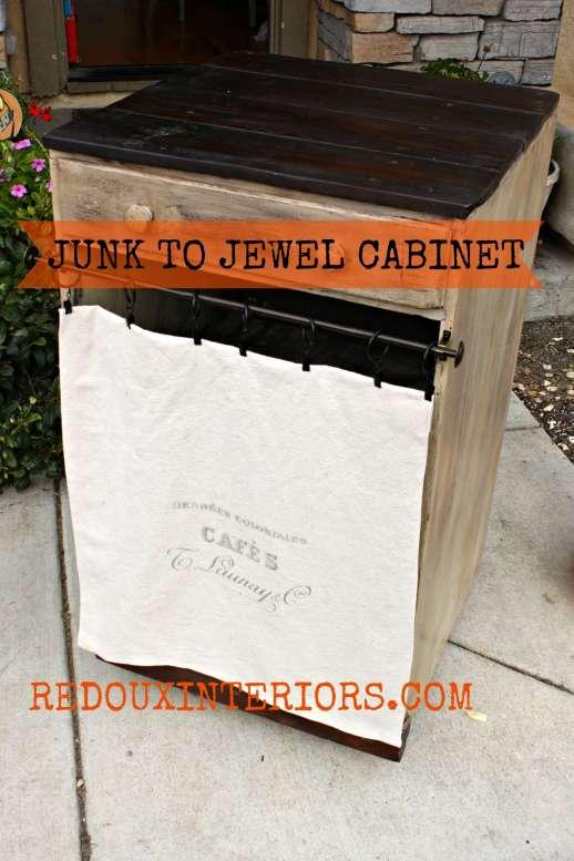 Junk to Jewel Cabinet Redouxinteriors