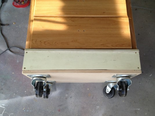 Dresser with trim