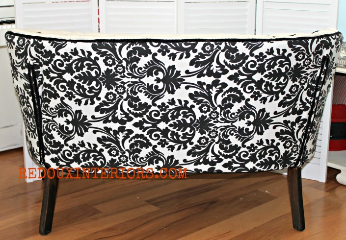 Back of French Settee Redouxinteriors