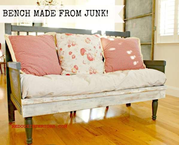 Bench from junk redouxinteriors