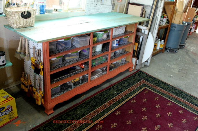 Workbench painted