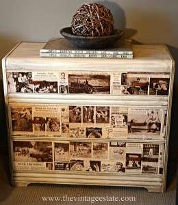Newspaper dresser