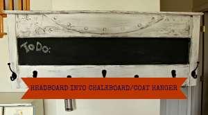 I Have Some Hang Ups, Headboard Turned Chalkboard