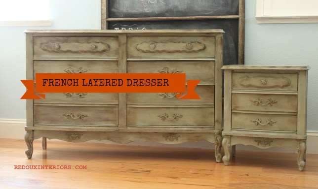 Dresser Nightstand with banner