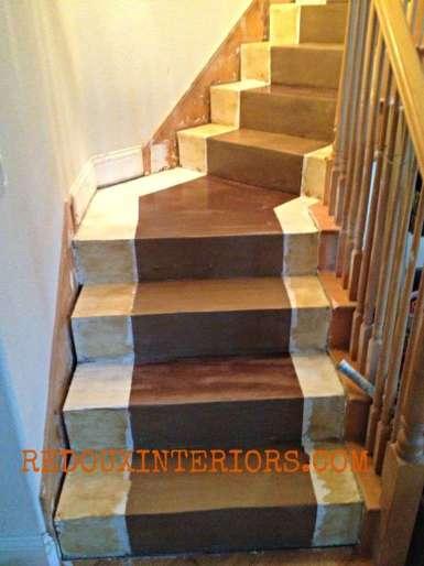 Stairs in progress near end