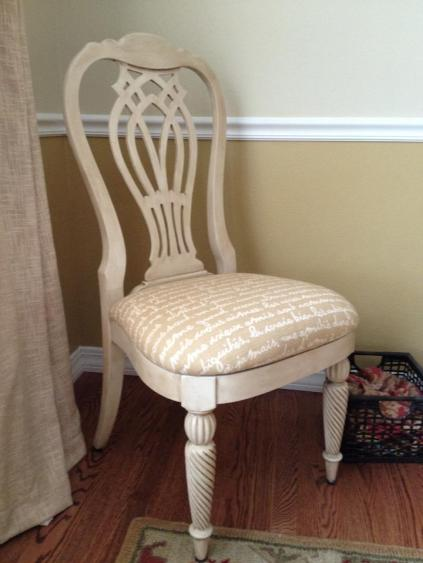 Cece Caldwells Vintage White Aging Wax Chair by Danielle Miller Partridge