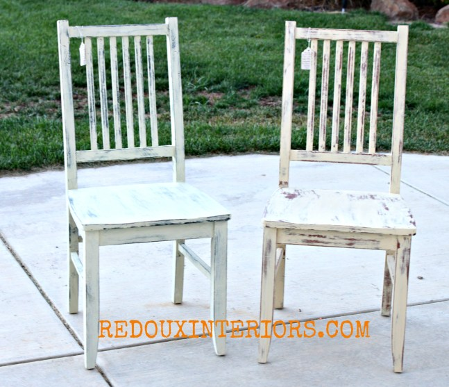 Cece Painted chairs redouxinteriors