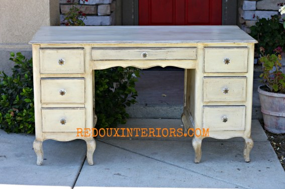 French Glazed Desk redouxinteriors