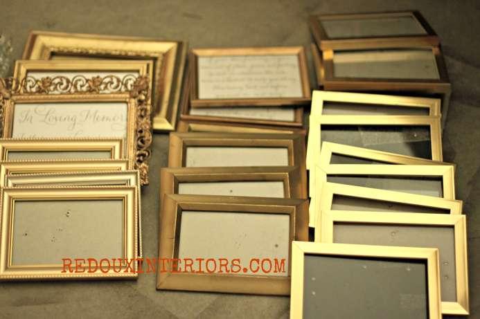Gold Free Frames redouxinteriors