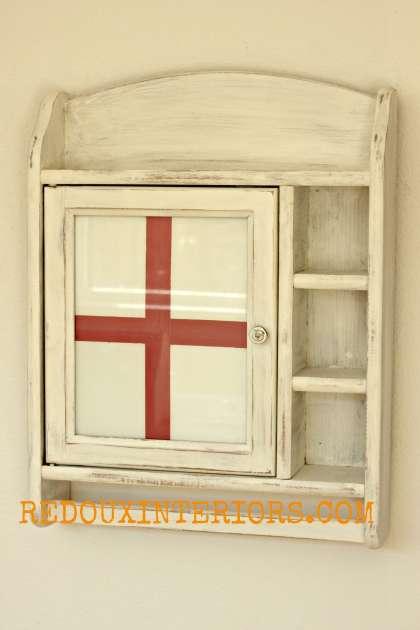 Red Cross Cabinet redouxinteriors