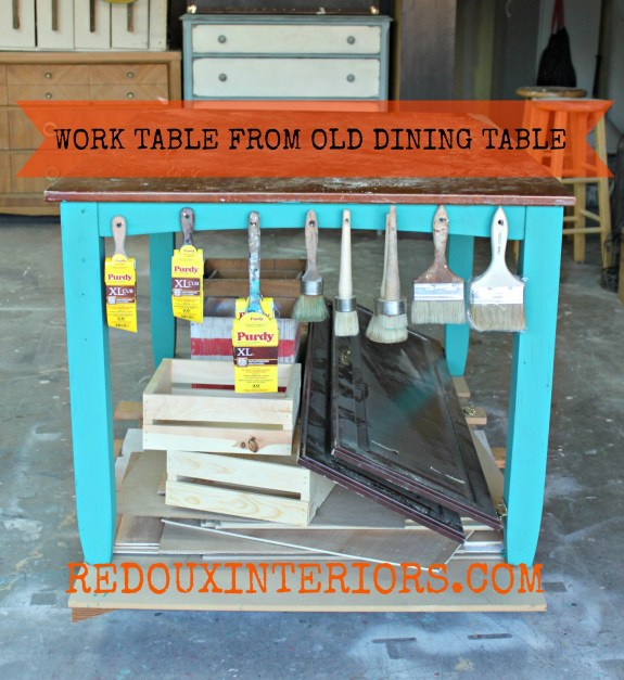 Dining Table to Work Table with brushes Redouxinteriors
