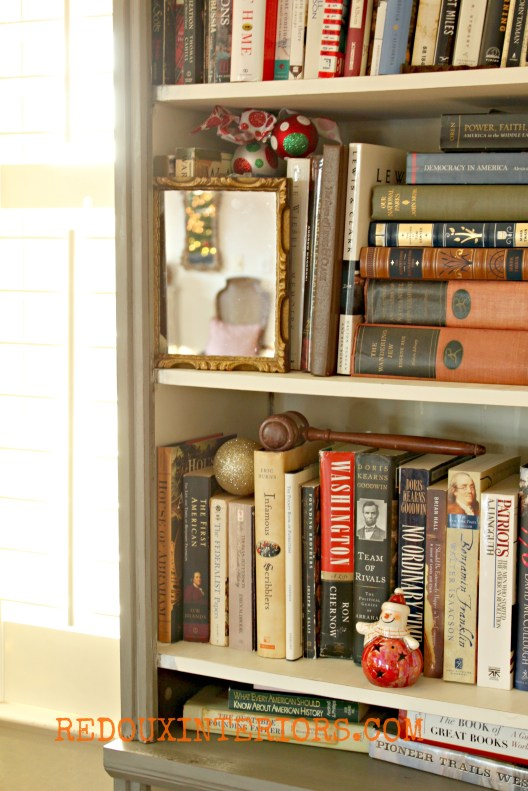 Christmas Bookcase Redouxinteriors
