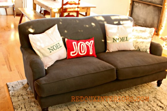Christmas Couch Redouxinteriors