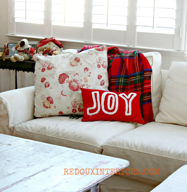 Christmas Couch area Redouxinteriors