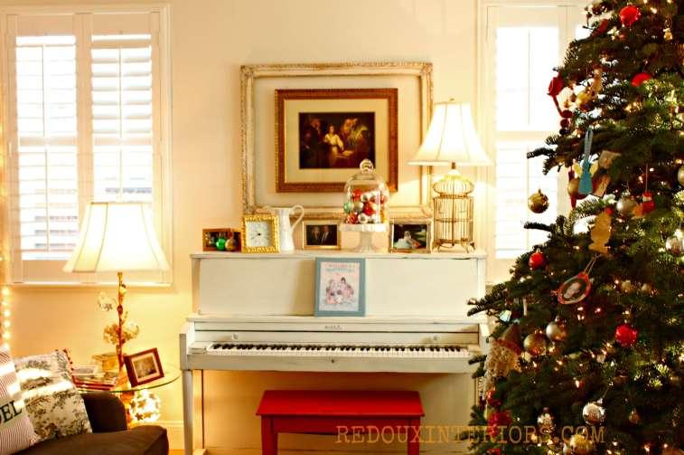 Christmas Piano area Redouxinteriors