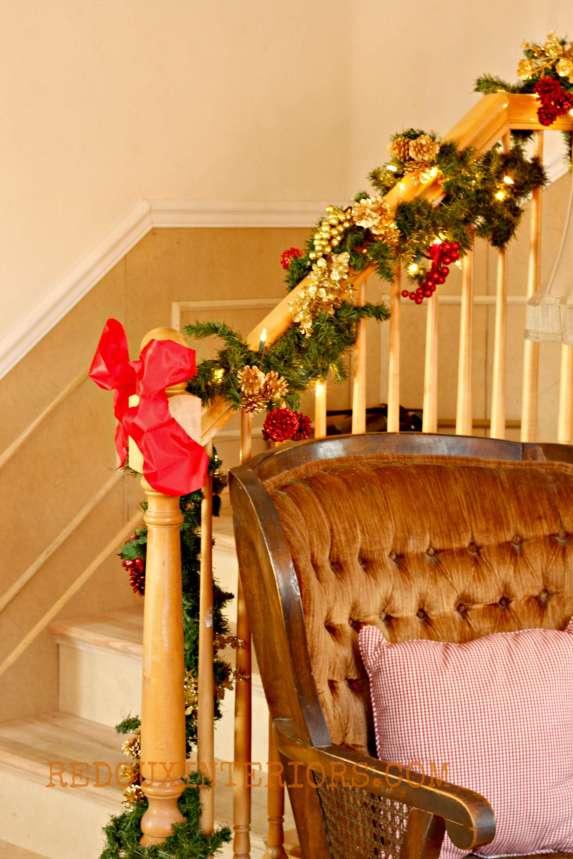 Christmas Stairs Redouxinteriors