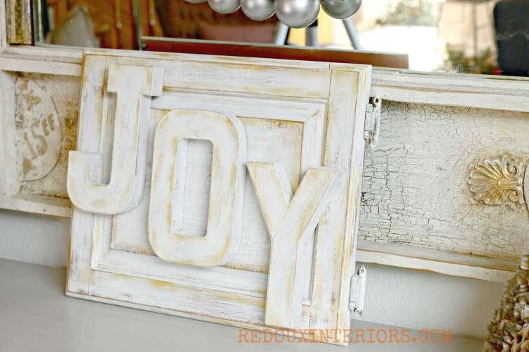 Joy Sign on Cabinet Door t Redouxinteriors