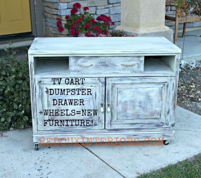 Cart with label redouxinteriors