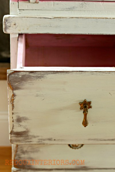 Nantucket Spray Secretary close up of drawer redouxinteriors