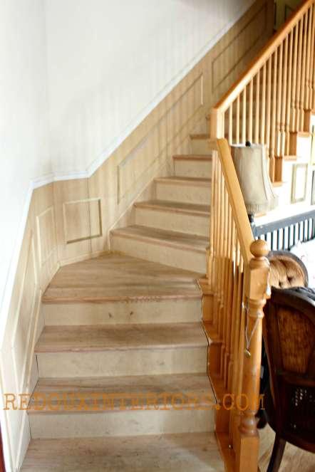Stairs refinished unpainted redouxinteriors