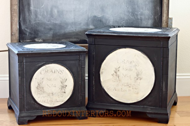 Black and White French Boxes Redouxinteriors