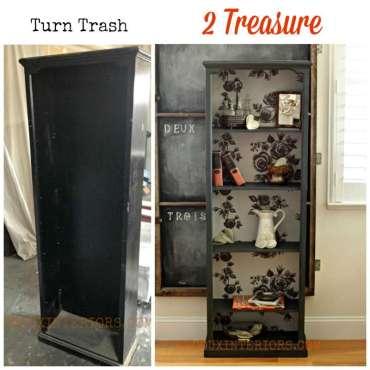 Bookshelf trash to treasure redouxinteriors