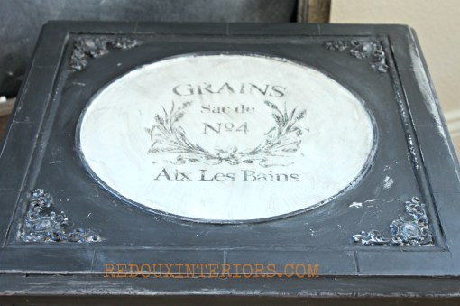 French Black and White Box Top Redouxinteriors