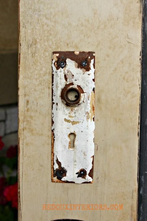 Door with glaze and plate redouxinteriors