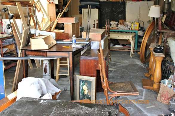 Messy garage redouxinteriors