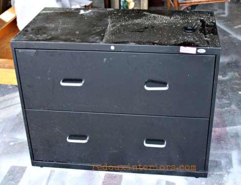 black filing cabinet dumpster dive redouxinteriors