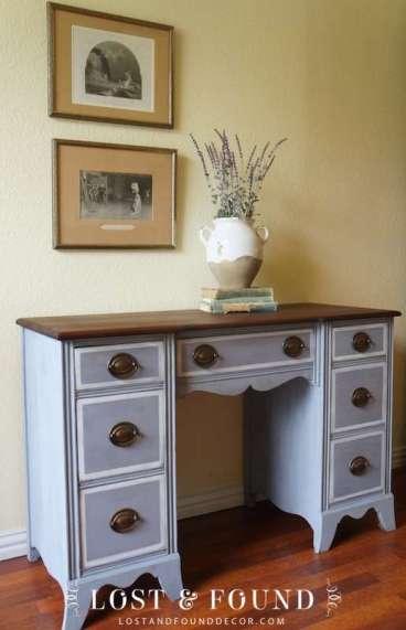 desk in lavender