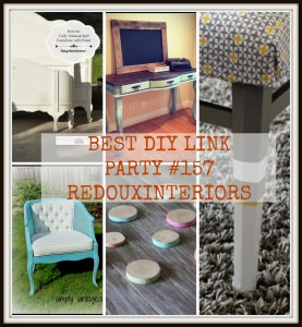 Best DIY Linky Party #157 – Redouxinteriors