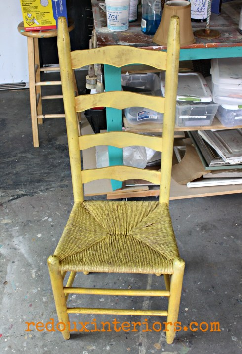 Yellow chair free redouxinteriors