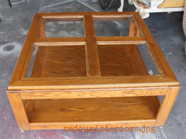 dumpster found coffee table redouxinteriors