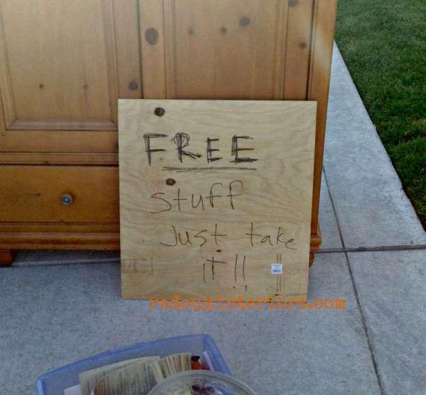 free junk sign just take it redouxinteriors