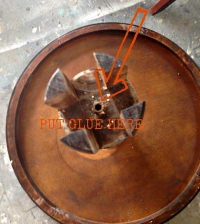 Dumpster Table base repair redouxinteriors